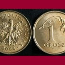POLAND 2004 1 GROSZ BRASS COIN Y#276  - Crowned White Eagle ~ BU BEAUTIFUL!
