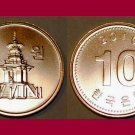 SOUTH KOREA 2010 10 WON COIN KM#103 Asia - Dabotap Pagoda - UNC, BU - BEAUTIFUL!