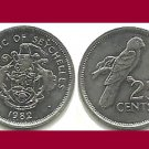 SEYCHELLES 1982 25 CENTS COIN KM#49.1 Africa - Black Parrot - LOW MINTAGE!