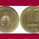 ARGENTINA 2008 10 CENTAVOS COIN KM#107.a South America