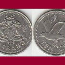 BARBADOS 1998 10 CENTS COIN KM#12 Caribbean Bonaparte Tern Bird ~ BEAUTIFUL!