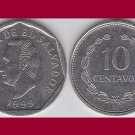 EL SALVADOR 1999 10 CENTAVOS COIN KM#155b Central America - General Francisco Morazan