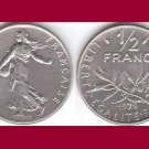 FRANCE 1976 1/2 HALF FRANC COIN KM#931.1 Europe - BU, BEAUTIFUL!