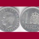 SPAIN 1983 1 PESETA COIN KM#821 Europe - King Juan Carlos I - BEAUTIFUL!