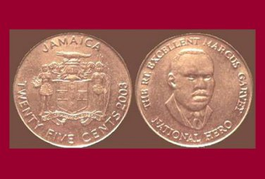 JAMAICA 2003 25 CENTS COIN KM#167 Caribbean - BU - BEAUTIFUL!