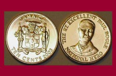 JAMAICA 2003 10 CENTS COIN KM#146.2 Caribbean - BU - BEAUTIFUL!