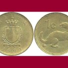 MALTA 1991 1 CENT COIN KM#93 Europe -  Weasel