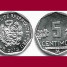 PERU 2013 5 CENTIMOS COIN KM#304.4a South America - BU - BEAUTIFUL!