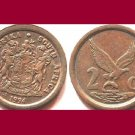 SOUTH AFRICA 1994 2 CENTS COIN KM#133 - Suid Bilingual Legend - Eagle & Fish