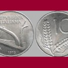 ITALY 1973 10 LIRE COIN KM#93 Europe - Plow - BU - BEAUTIFUL!