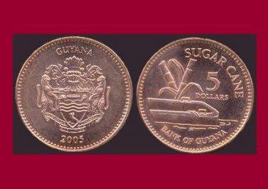 GUYANA 2005 5 DOLLARS COIN KM#51 South America - Sugar Cane