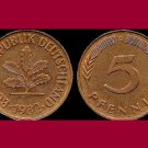 WEST GERMANY 1982 (D) 5 PFENNIG COIN KM#107 Europe - XF - Federal Republic of Germany