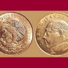 MEXICO 1967 5 CENTAVOS BRASS COIN KM#426 - BU, BEAUTIFUL! - Dona Josefa Ortiz de Dominquez