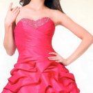 Strapless short prom/special occasion dress with tie back pleat bodice c3054 Size M