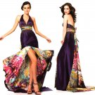 Halter Long Gown with printed underlining Size 6 HK9177