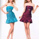 Strapless Short Prom or Bridesmaid Dress - c501 SIZE S (Hot Pink) , XS (Hot Pink)