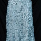 Strapless Long Dress in Lace w Sequine & beads A184