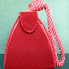 Velvet Triangle Evening Purse / Hand Bag in Red