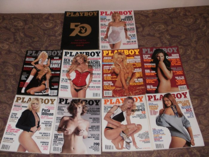 Playboy January to October 2004 - 10 Issues - Excellent Condition - 50th Anniversary Issue
