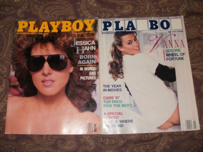 Playboy November & May 1987 - Good Condition - Jessica Hahn & Vanna White
