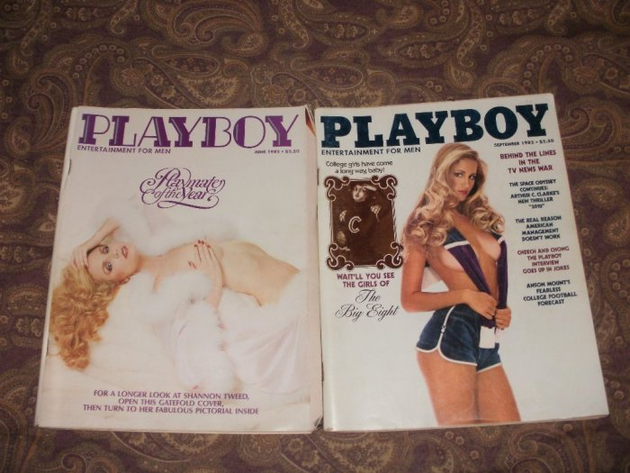Playboy September & June 1982 - Good Condition - The Girls Of The Big Eight & Playmate Of The Year