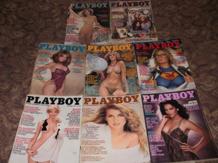 Playboy January to October 1981 - 8 Issues - Good to Very Good Condition - Barbara Bach