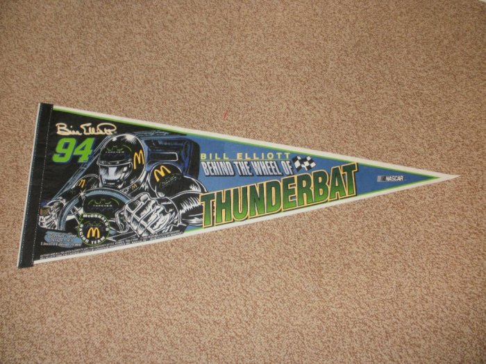 NASCAR Thunderbat Bill Elliott McDonald's Banner Flag - Limited Edition Design 3of4 Rare