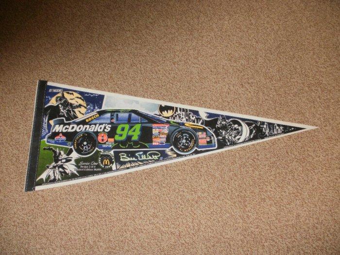 NASCAR Thunderbat Bill Elliott McDonald's Banner Flag - Limited Edition Design 2of4 Rare