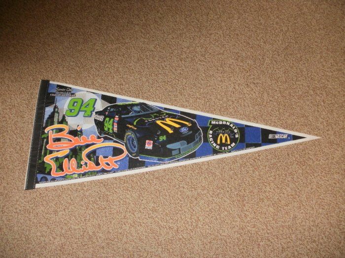 NASCAR Thunderbat Bill Elliott McDonald's Banner Flag - Limited Edition Design 1of4 Rare