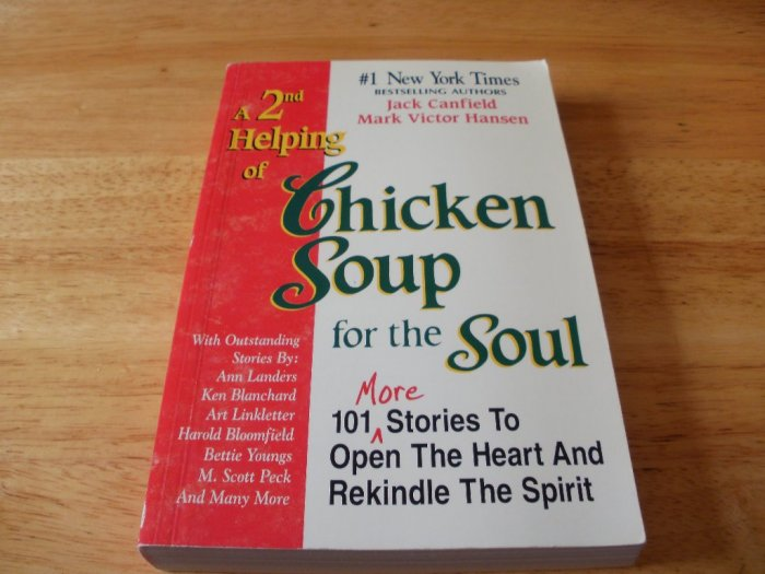 A 2nd Helping of Chicken Soup for the Soul - Paperback Jack Canfield (1994) - Very Good Condition
