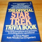 The Official Star Trek Trivia Book - Paperback, Rafe Needleman (1980)