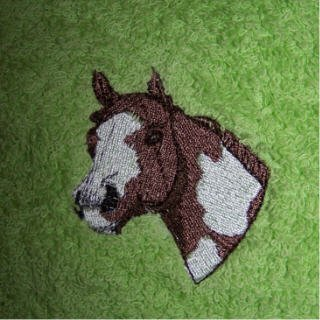 Embroidered hand towel PAINT HORSE NEW