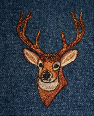 HUNTING for a great gift? Jean jacket with Deer Head great for a hunter! LARGE new