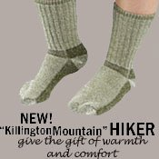 Killington Mountain Hikers Organic Hiking Socks. Warm, soft and cushion feet nicely! size 9-11