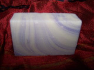 LAVENDER SWIRL  handmade ORGANIC soap ALL SKIN TYPES