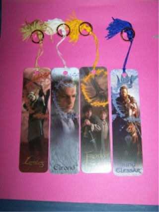 Legolas Elrond Frodo & Sam and Aragorn bookmarks LOTR Lord of the Rings Trilogy