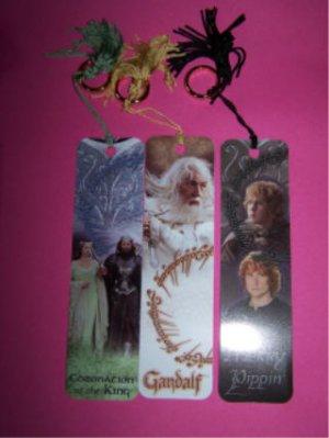 7 bookmarks Arwen & Aragorn Gandalf Merry & Pippin Legolas Elrond Frodo & Sam Aragorn bookmark LOTR
