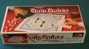 Quip Qubes Game Selchow & Righter 1981 Complete VGC