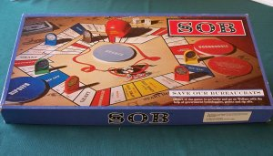 SOB (Save Our Bureaucrats) board game 1980. Complete VGC