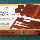 Prestige Backgammon by Cardinal Leatherette Case Good Cond.