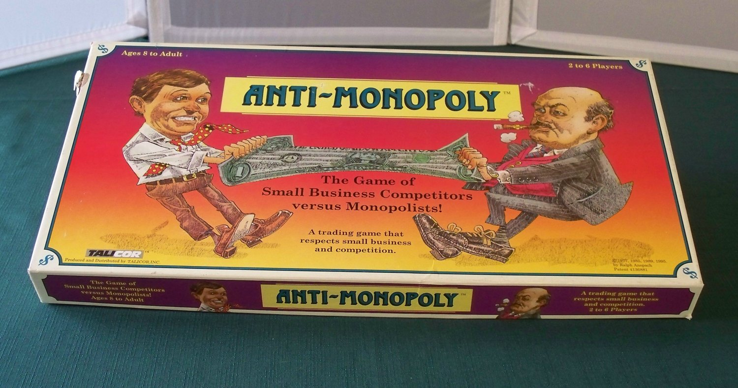 Anti-Monopoly Small Business Game Talicor 1996 Complete VGC