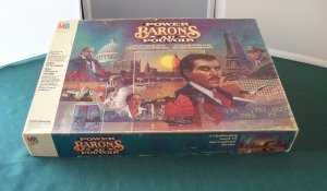 Power Barons International Rivalry Game Unpunched Milton Bradley 1986