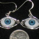 HANDMADE BLUE EYEBALL EARRINGS JEWELRY ONE OF A KIND