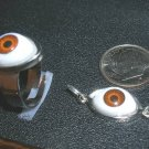 BROWN EYEBALL RING SIZE 6-10 & PENDANT SET UNUSUAL