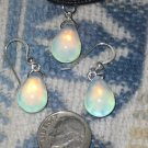 OPALITE GLASS JEWELRY SET HEALING STONE MEDITATION