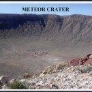 METEOR CRATER, Arizona, Photo Postcard, AZ Route 66