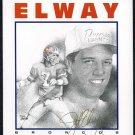 1996 Dotson JOHN ELWAY Greeting Card, Broncos/HOF