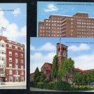 Vintage 1940s Denver, Colorado Linen Postcard Lot (3)