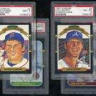 1987 Donruss PSA Graded Card Lot, w/Clemens, Sutton+