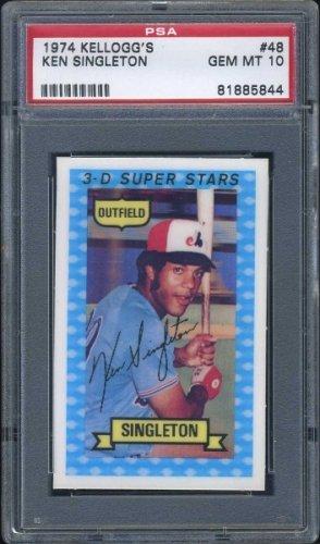 1974 Kelloggs 48 Ken Singleton 3 D Card Psa 10 Expos